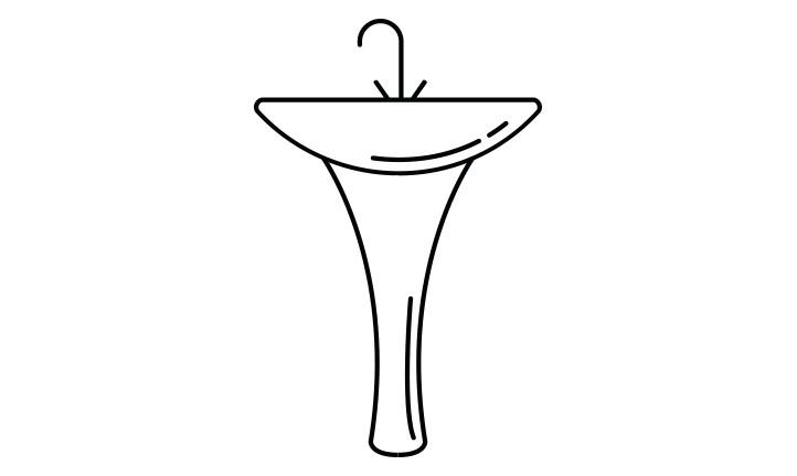 icono menu lavabo